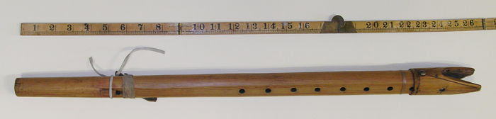 Full view of the Beltrmi Native American flute