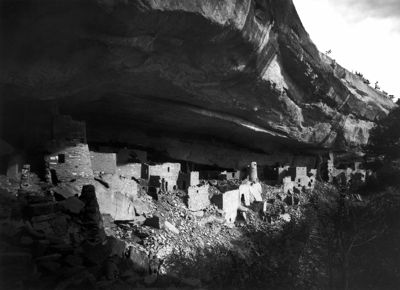 Cliff Palace, Mesa Verde. Photo by Gustaf Nordenskiöld in 1891.