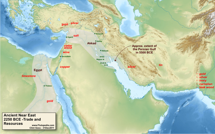 Ancient Near East - 2250 BCE Trade and Resources