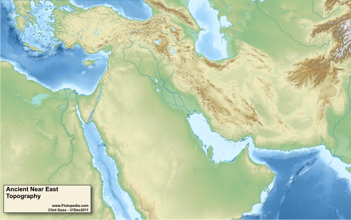 Ancient Near East - Topographic