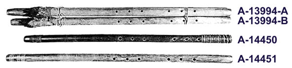 Four Anasazi Flutes from the Broken Flute Cave