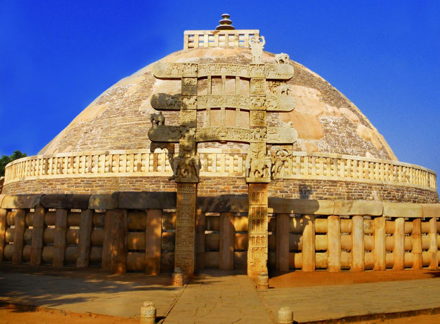 Photograph of The Great Stupa at Sanchi