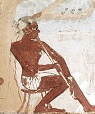 Wall painting in the tomb of Menna, 1400—1390 BCE
