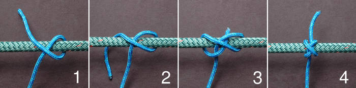 Tying a constrictor knot