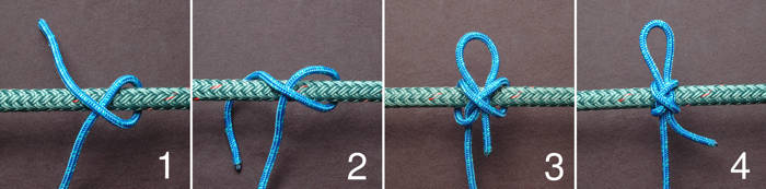 Tying a slipped constrictor knot
