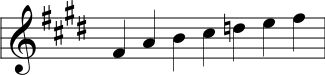 Hexatonic Minor Scale written in Nakai Tab notation