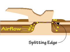 Location of the splitting edge