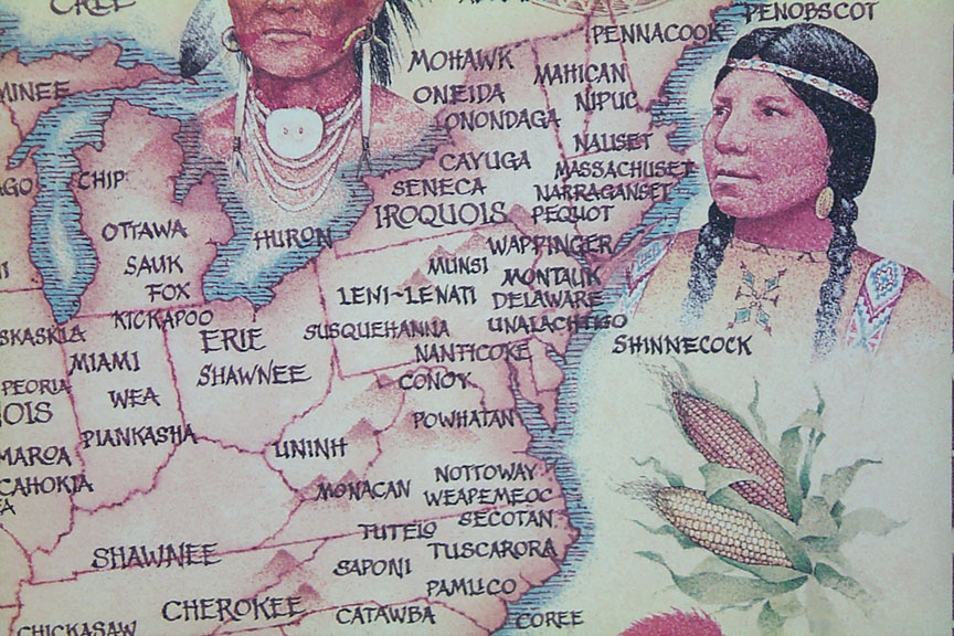 Native American Indian Tribal Map - NorthEast
