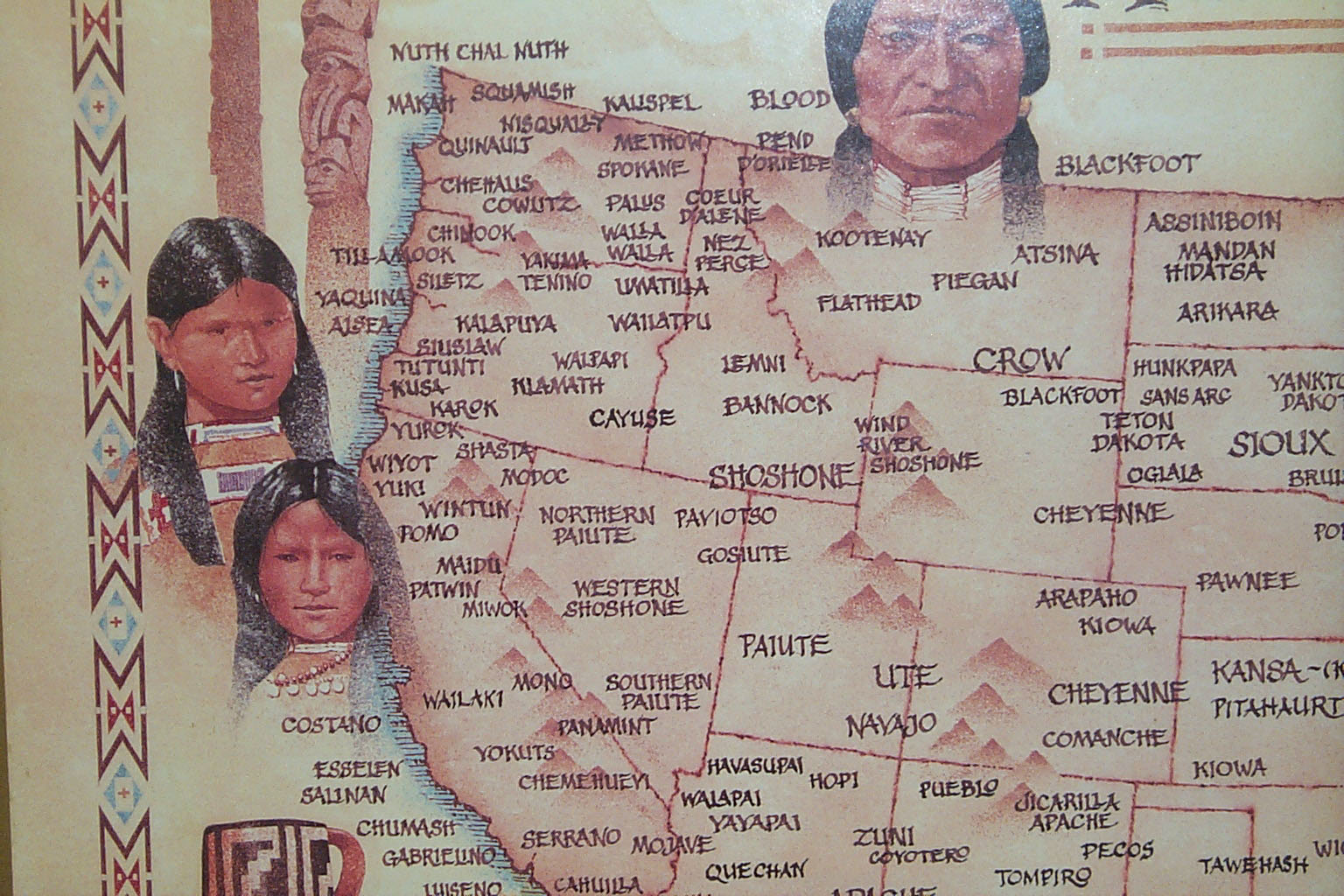 Native American Indian Tribal Map - NorthWest