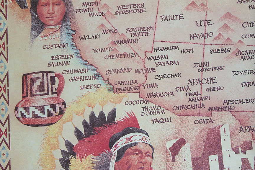 Native American Indian Tribal Map - SouthWest