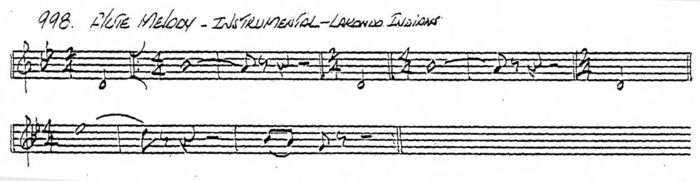 Transcription of Lakondo Flute Melody by J. D. Robb