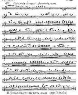 Transcription of Music of the Voladores by J. D. Robb
