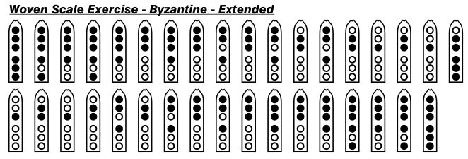 Byzantine Extended Woven Scale