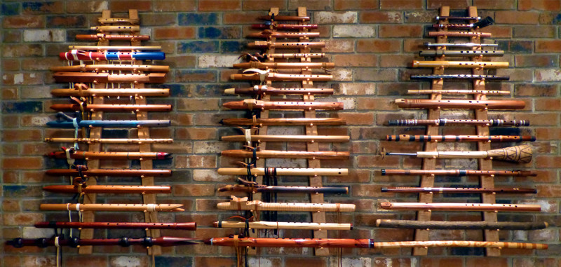 Clint's flute wall — May 2014